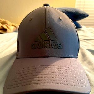 Grey Adidas fitted mesh hat
